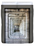Breaking Through The Forth Wall Duvet Cover
