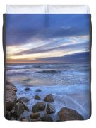 Breaking Waves At Old Silver Beach Duvet Cover