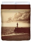 Breakwater At Sete Duvet Cover
