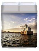 Breakwater Lighthouse Duvet Cover