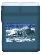 Breathe Like Water Kashmir Blue Sapphire Duvet Cover