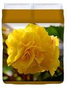 Breathtaking Begonia Duvet Cover