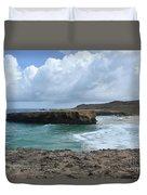 Breathtaking Boca Keto Beach On The Island Of Aruba Duvet Cover