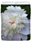 Breathtaking - Festiva Maxima Double White Peony Duvet Cover