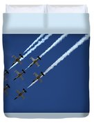 Breitling Team Crowd Pleases At Reno Air Races Duvet Cover
