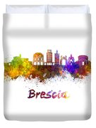 Brescia Skyline In Watercolor Duvet Cover