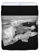 Brethamerkursandur Iceberg Beach Iceland 2319 Duvet Cover