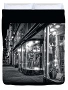 Brewery And Boutique In Black And White Duvet Cover