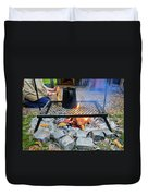 Brewing Outdoors Duvet Cover