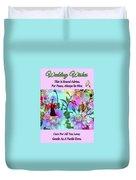 Brian Exton Celestial Flowers  Bigstock 164301632  2991949 Duvet Cover