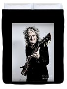 Brian May Of The Rock Group Queen Duvet Cover