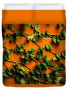 Brick And Leafs Duvet Cover