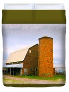 Brick Barn And Silo Duvet Cover