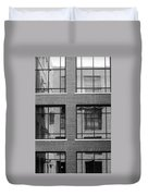 Brick Building Black And White Duvet Cover
