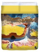 Brick In Sun Duvet Cover