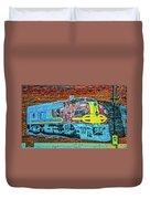 Brick Train Duvet Cover