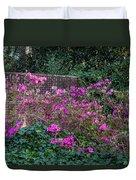 Brick Wall And Azalea Duvet Cover