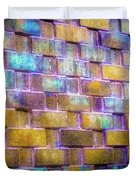 Brick Wall In Abstract 499 S Duvet Cover