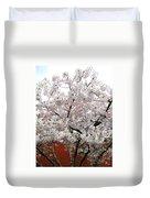 Bricks And Blossoms Duvet Cover