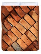 Bricks Made From Adobe Duvet Cover