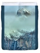 Bridal Vail Fall Below The Clouds Duvet Cover