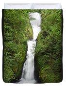 Bridal Veil Falls - Oregon Duvet Cover