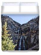 Bridal Veil Falls Provo Utah Duvet Cover