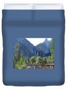 Bridal Veil Yosemite Duvet Cover