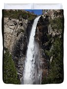 Bridalveil Fall Yosemite Valley Duvet Cover