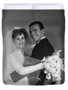 Bride And Groom, C.1960s Duvet Cover