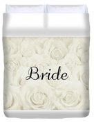 Bride Floral Design- Cream White Duvet Cover