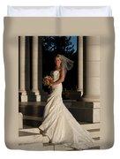 Bride In A Park Duvet Cover