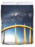 Bridge Across The Galaxy Duvet Cover