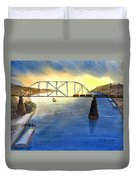 Bridge And Barge Duvet Cover