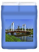 Bridge And Windmill Duvet Cover