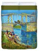 Bridge At Arles, Pont De Langlois, By Vincent Van Gogh, 1888, Kr Duvet Cover