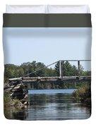 Bridge At Chub Duvet Cover