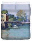 Bridge At Tonawanda Canal Duvet Cover