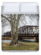 Bridge By The Tree Duvet Cover