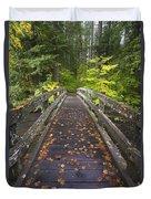 Bridge In A Park Duvet Cover