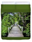 Bridge In Kosrae Duvet Cover