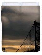 Bridge In Oil Duvet Cover