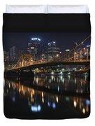 Bridge In The Heart Of Pittsburgh Duvet Cover