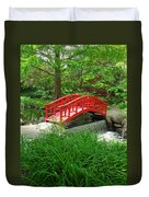 Bridge In The Woods Duvet Cover