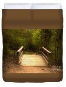 Bridge In The Woods Duvet Cover