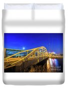 Bridge Meridian Sault Ste. Marie, Michigan -6792 Duvet Cover