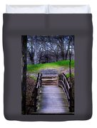 Bridge On The Trail Duvet Cover