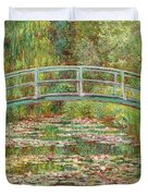 Bridge Over A Pond Of Water Lilies Duvet Cover