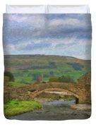 Bridge Over Duerley Beck - P4a16020 Duvet Cover