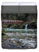 Bridge Over Hackleman Creek Duvet Cover